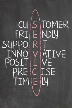 Excellent customer service will set your establishment apart from your competitor. By investing your time and your money in bringing the best customer service produces the results you're looking for in the end. This picture drew my attention.