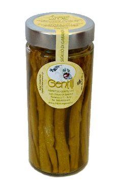 Asparagi. Vasetto da: 300 gr Asparagi con olio extravergine Gentili, aceto di vino e sale.