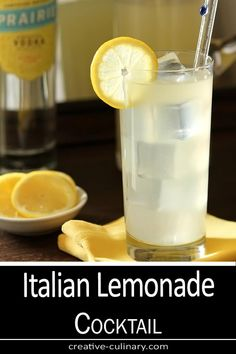 This Italian Lemonade Cocktail with Vodka and Gin is a great year round cocktail but we especially love it in the heat of summer; Alcoholic Lemonade Drinks, Lemonade Cocktail, Cocktail Drinks, Spring Cocktails, Fun Cocktails, Summer Drinks, Summer Parties, Side Recipes, Gourmet Recipes