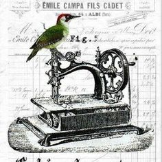 Vintage Sewing Machine Graphic
