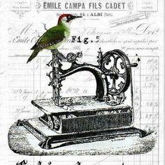Vintage Sewing Machine Graphic