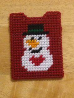 Snowman Gift Card Holder Plastic Canvas Snowman by ShanaysCreation