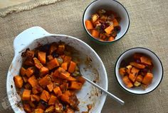 Tired of plain, baked yams as your go-to PWO carb supplement? This is a nice change of pace with a bit of a Thanksgiving twist. So easy. I don't use dried,