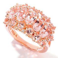Morganite and White Zircon so pretty in rose gold. Makes the Morganite even more pink.