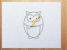 how to draw owl step by step tutorial