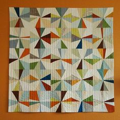 the big orange wall quilt