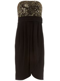 Sequin bandeau dress. Love it.