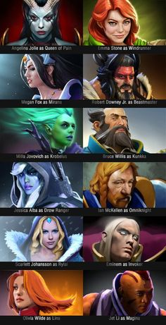 Hollywood actors as DOTA characters