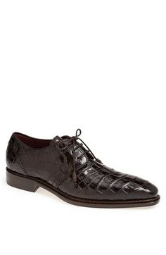 Mezlan 'Marini' Alligator Leather Derby available at #Nordstrom