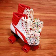 60s 70s Retro Disco Derby Roller Girl Skates...I had these skates!! ...memories