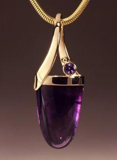 Designing Gemstone Jewelry: Amethyst February's Birthstone - Interweave - March 16 2019 at Purple Jewelry, Amethyst Jewelry, Amethyst Pendant, Gems Jewelry, Pendant Jewelry, Gemstone Jewelry, Jewelery, Jewelry Necklaces, Fine Jewelry