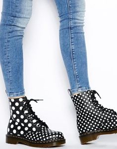 Dr Martens Core Chay Dot 8-eye boots - I really want these. too much fun!