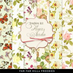 Far Far Hill - Free database of digital illustrations and papers: New Freebies Kit of Backgrounds - Fleurs Jardin Source by ionadesaulniers Free Scrapbook Paper, Papel Scrapbook, Free Digital Scrapbooking, Autumn Illustration, Plant Illustration, Digital Illustration, Digital Paper Freebie, Digital Papers, Far Hills