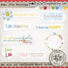 Ma vie en Couleurs (Life in colour) Word Art