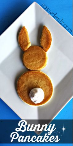 Make this cute bunny pancake breakfast to surprise your kids on Easter!
