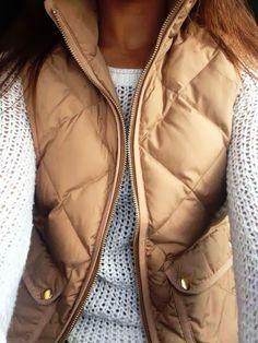 { J.Crew Vest & cozy sweater }