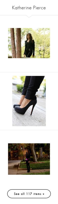 """""""Katherine Pierce"""" by kate7695 ❤ liked on Polyvore featuring nina dobrev, vampire diaries, the vampire diaries, people, katherine pierce, shoes, pictures, backgrounds, photos and heels"""