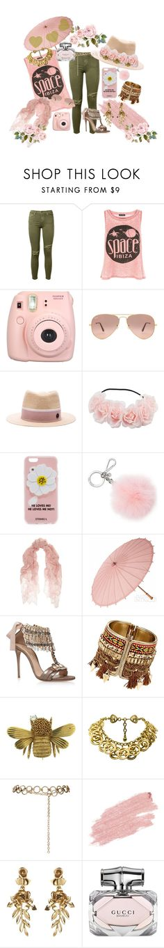 """He Loves Me...He Loves Me Not"" by yournightnurse ❤ liked on Polyvore featuring Current/Elliott, New Look, Fujifilm, Ray-Ban, Maison Michel, Iphoria, Michael Kors, Valentino, Casadei and Chanel"