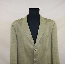 GANT MENS LINEN FLAX JACKET BLAZER  made in PORTUGAL size EU-54