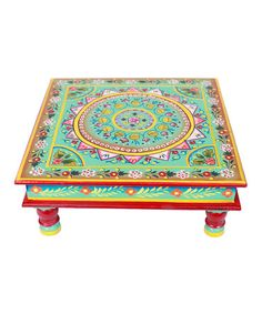 Take a look at this Teal Hand-Painted Bajot Low Table by Tadpoles on #zulily today!  ($90.00)  $43.00