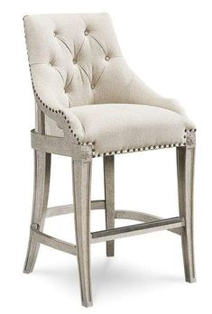 Furniture Arch Salvage Reeves Bar Chair is impressive from all angles. The back of this bar chair is dressed in a scrolled fabric and wood. Swivel Bar Stools, Bar Chairs, Counter Stools, Desk Chairs, Vanity Chairs, Ikea Chairs, Eames Chairs, Bar Counter, Kitchen Chairs