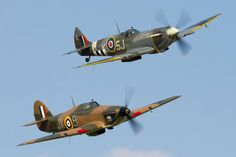 Hurricane and Spitfire. Dear God -- they are so beautiful. They saved the world…