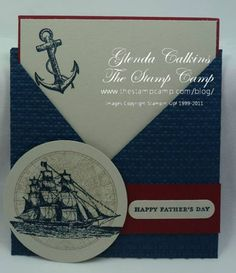 Fathers Day Criss Cross Card by Glenda Calkins - Cards and Paper Crafts at Splitcoaststampers