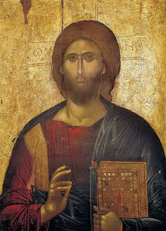 Jesus Christ the Saviour, icon fom the iconostasis, century - Monastery of Saint John the Forerunner – Serres, Greece Religious Images, Religious Icons, Religious Art, Byzantine Icons, Byzantine Art, Christ Pantocrator, Sign Of The Cross, Christian Artwork, Orthodox Christianity