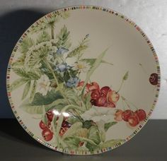NEW Trevise Dish Cherry Pattern From GIEN