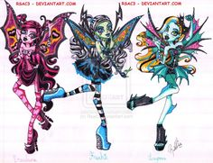 Goth Fairies Part 1 (Not official name) by Rsac3.deviantart.com on @deviantART