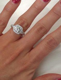 Kirk Kara Carmella Cushion Halo Round Cut Diamond Engagement Ring · K1170DC-R · Ben Garelick Jewelers