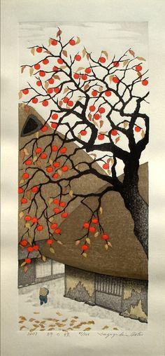 Persimmon in Autumn, 2007,by Kazuyuki Ohtsu, Japan