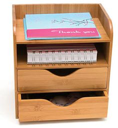 Bamboo Four-Tier Desk Organizer  $21.99