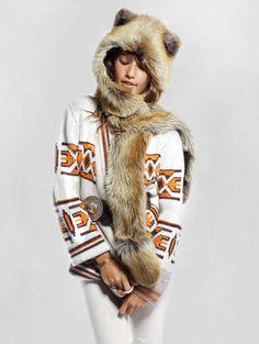 SpiritHoods Official Website | Red Fox SpiritHood | Faux Fur Red Fox Hood |