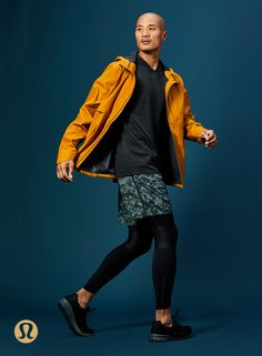The solution to your holiday shopping procrastination. The waterproof Outpour Shell for the outdoorsy guy on your list.   lululemon Yoga Fashion, Girl Fashion, Fashion Women, Work Pants, Lululemon, Photo Graphy, Bomber Jacket, Gym Outfits, Fitness Clothing