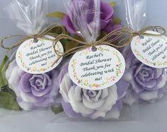 Color de rosa de jabón favores conjunto de jabón de boda jabón favores - ducha jabón favores - 10 - color de rosa de jabón favores - favores de partido - Custom color de rosa de jabón favores