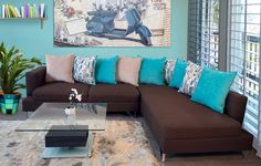 decoraçao turquesa com marrom - Pesquisa Google