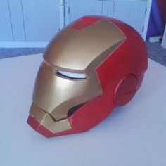 How to make a lifesize, wearable Iron Man helmet-if you're ever bored...