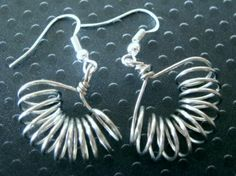 "Pierced ""Fandango"" Hand Crafted Earrings Silver Tone or 14 Color Choices"