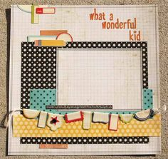 Vintage School Days Layout Kit Stretch your scrapbooking budget and get caught up on school pictures in your albums! This kit comes with designs and materials f