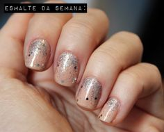 nude + sparkly silver, I love it!