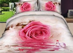 Cheap bedding set queen, Buy Quality bedding set children directly from China bedding set white Suppliers: hot sale high quality luxury rose flower bed sheet set bedclothes bedlinen duvet cover set bedding set Cheap Bedding Sets, Bedding Sets Online, Queen Bedding Sets, Comforter Cover, Comforter Sets, Duvet Cover Sets, Rose Comforter, Bedroom Comforters, Bed Sets