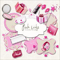 Friendly Scrap: New Freebies Kit // make up and fashion