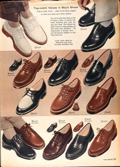 These are some classic 1950s mens shoes that some of the cast members may be able to wear due to their old fashioned look and design.