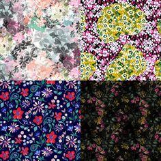 Ditsyinspired Patternbank Studio Designs by: Mercedes Quevedo, Pattern House Italy, Natalia Gemma, Hari