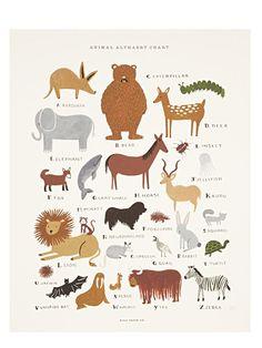 Animal Chart Print