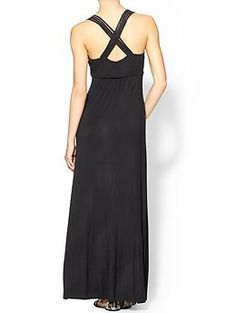Calvin Klein Cross Back Maxi Dress | $40 at TJ Maxx...I got this in a periwinkle blue color and love it!