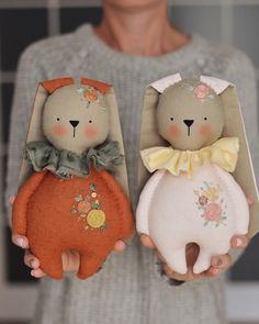 Discover thousands of images about Happy Monday, Friends! Tomorrow is the day these bunnies and their friends are releasing. I'll be waiting for your in my shop at 4 PM EST… Fabric Toys, Fabric Crafts, Sewing Crafts, Diy Crafts, Doll Sewing Patterns, Sewing Dolls, Tomorrow Is The Day, Felt Toys, Diy Doll