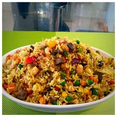 How to make Nigerian fried rice. Nigerian fried rice is a very popular Nigerian rice recipe and an absolute necessity at social gatherings. Nigerian Fried Rice, Rice Recipes, Cooking Recipes, Recipies, Savoury Recipes, Nigeria Food, Caribbean Recipes, Caribbean Food, Rice Dishes