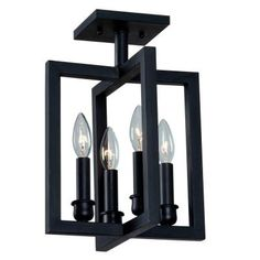World Imports Cathedral 4-Light Rust Semi Flush Mount-WI490242 at The Home Depot